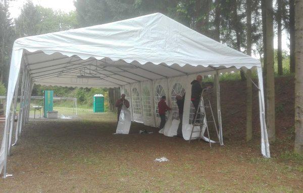 Tente avec éclairage de 14 X 6 mètres