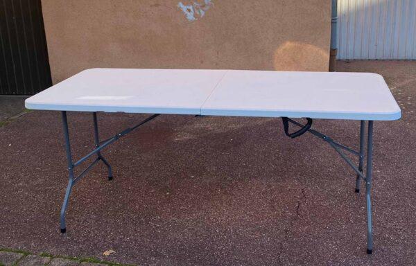 Tables pliantes en plastique